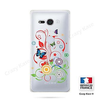 Hull For Sony Xperia Xz2 Compact Soft Pattern Butterflies And Circles