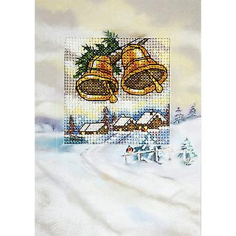 Orchidea Cross Stitch Card Kit - Winter Bells