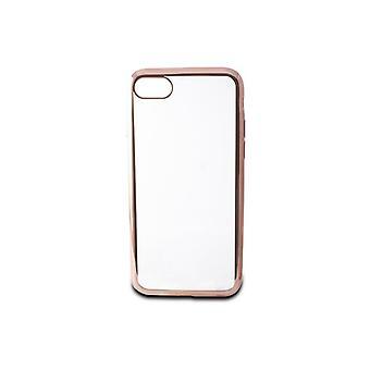 Mobiele cover Iphone 7/8 Contact Flex Metal TPU Transparant Roségoud Metallic