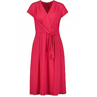 Taifun Fuchsia Pink Wrap Effect Dress