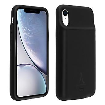 2-in-1 Protective Case with 4500mAh Built-in Battery for iPhone XR- Akashi,Black