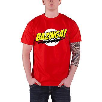The Big Bang Theory T Shirt Bazinga Super Logo new Official Mens Red