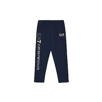 EA7 Girls Navy Blue Leggings