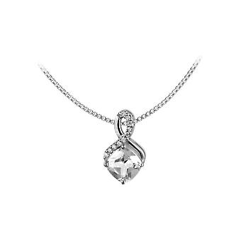 Jacques Lemans - Sterling Silver Necklace with White Topaz - SE-C117A