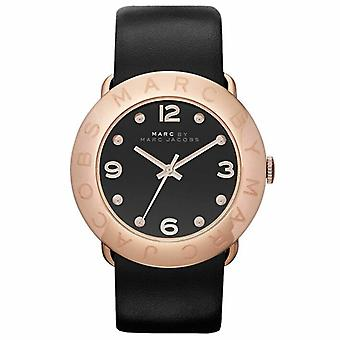 Marc by Marc Women's MBM1225 Black Leather Quartz Watch with Black Dial