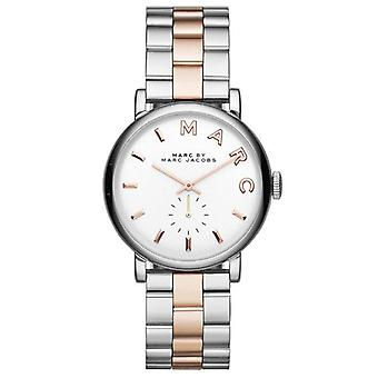 Marc Jacobs MBM3312 White Dial Two Tone Stainless Steel Ladies Watch