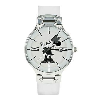 Montre-bracelet analogique blanche disney minnie souris