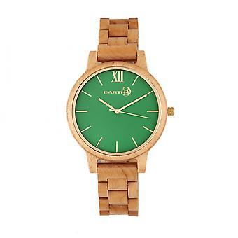 Aarde hout Pike armband horloge - Khaki-Tan