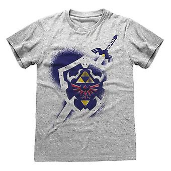 Men-apos;s The Legend of Zelda Hylian Shield Grey T-Shirt