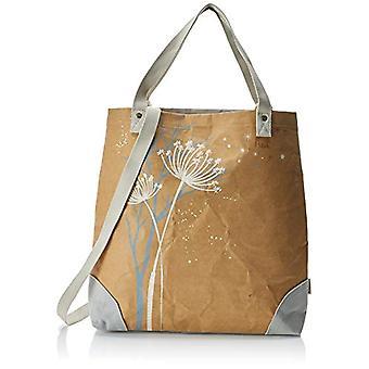 Adelheid Gl cklich Einkaufstasche Veganes Leder - Folder Donna Braun (Papierbraun) 10x45x40cm (L x H D)