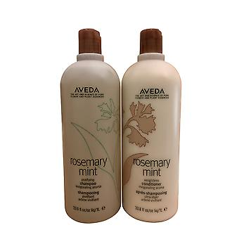 Aveda Rosemary Mint Purifying Shampoo & Weightless Conditioner Set 33.8 OZ Each