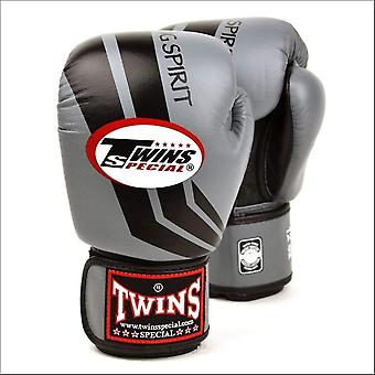 Twins special grey black stripe boxing gloves