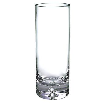 """12"""" Mouth Blown Crystal European Made Cylinder Vase"""