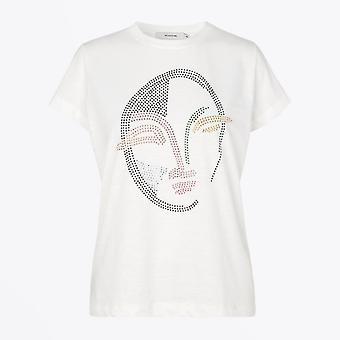 Munthe  - Cotton Logo T-shirt - White