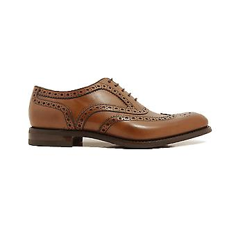 Loake Kerridge Cedar Burnished Calf Leather Mens Oxford Chaussures Oxford