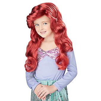 Little Mermaid Princess Ariel Red Fairy Tale Book Week Child Girls Costume Wig