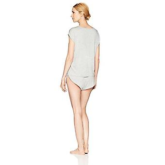 Brand - Mae Women's Sleepwear Curved Trim T Shirt and Short Pajama Set...