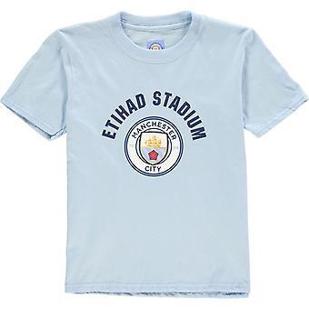 Source Lab Manchester City FC Crest T-Shirt Junior Boys