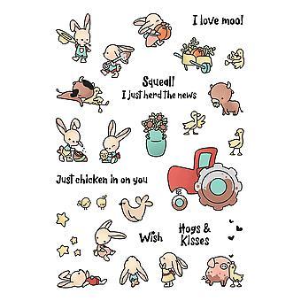 LDRS Creative Barnyard Bunnies Clear Stamps