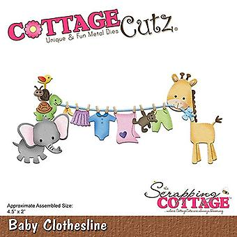 Scrapping Cottage CottageCutz Baby Clothesline