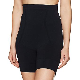 Arabella Women's Seamless Waist Shaping Thigh Control Shapewear, Noir, X-Large