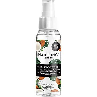 Nails inc Salon Professional PPE - Palms Together Vegan Hand Sanitiser Spray - Coconut Scent 60ml (12709)