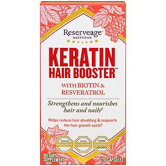 ReserveAge Nutrition, Keratin Hair Booster with Biotin & Resveratrol, 120 Capsul