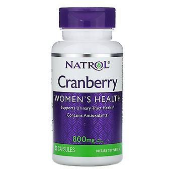 Natrol, Cranberry, 800 mg, 30 Capsules