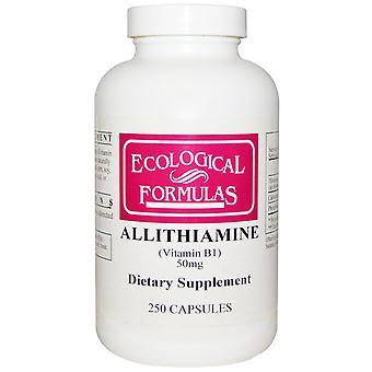Ecological Formulas, Allithiamine (Vitamin B1), 50 mg, 250 Capsules
