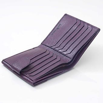 Aubergine Oak Grain French purse
