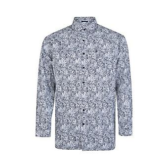 Espionage Paisley Print Long Sleeve Shirt