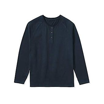 Essentials Men's Big & Tall Long-Sleeve Henley Camicia, -Navy, 5XLT