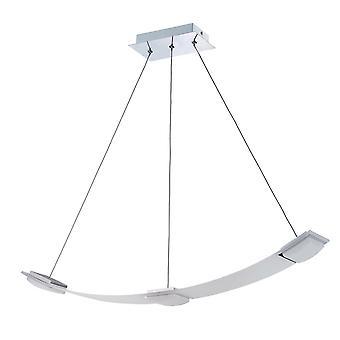 Wisiorek sufitowy 3 Lekki 21W LED 3000K, 1890lm, Satynowy aluminium, akryl matowy