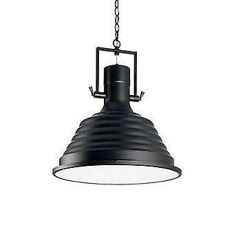 Ideale Lux Fisherman - 1 Light Dome Deckenanhänger schwarz, E27