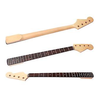 4 Saiten E-Bass Gitarre Hals Ersatz Ahorn Holz 20 Fret