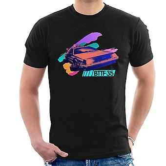 Back to the Future 35th Anniversary Delorean Flying Men's T-Shirt
