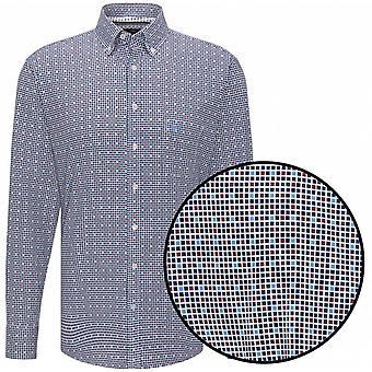 FYNCH HATTON Fynch Hatton Graph Check Premium Cotton Shirt