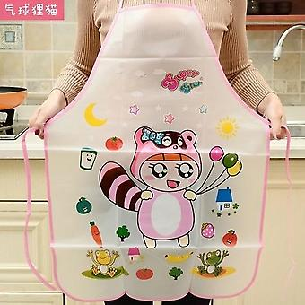 Kitchen Apron Rabbit Printing Kids Aprons Bbq Bib Apron Cooking Baking