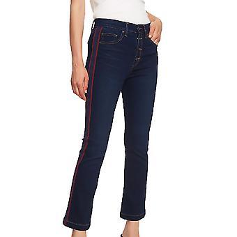 1.State | Essentials High Rise Mini Kick Flair Jeans
