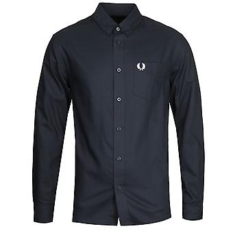Fred Perry Navy Oxford Shirt
