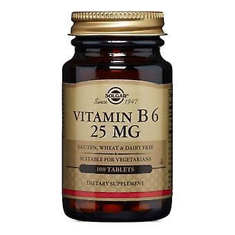 Solgar Vitamin B6, 25 mg, 100 Tabs