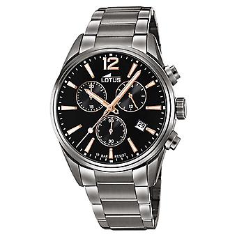 Lotus Men's Stainless Steel Bracelet | Black Chronograph Dial L18682/2 Watch