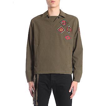 Saint Laurent 506537y016s1340 Männer's braun Baumwollhemd
