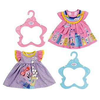 Sukienka dla dzieci - różowa / fioletowa 43 cm (w zestawie)