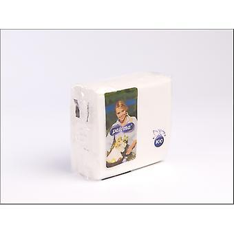 Essential Napkins 1Ply 30 x 30cm White x 100 30WH100