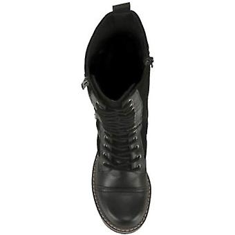 Madden Girl Women's Shoes Toya Leather Round Toe Mid-Calf Fashion Boots