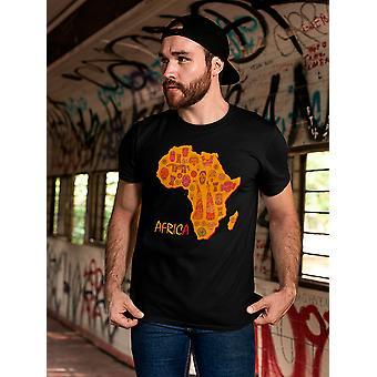 أفريقيا خريطة الرموز القديمة تي الرجال & apos;s -الصورة من قبل Shutterstock
