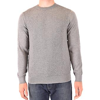 Armani Exchange Ezbc039161 Men's Grey Cotton Sweater
