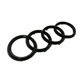 Gloss Black Audi Rings Front Grill Bonnet Badge Emblem Grill Badge Emblem A3 S3 RS3 A4 A5 A6 S 275x95mm