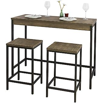 SoBuy OGT30-N,Bar Set-1 Bar Table and 2 Stools, 3 Pieces Furniture Dining Set